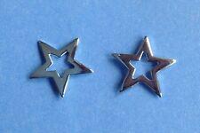 Paire En Argent Sterling 925 étoile (13 mm) Boucles D'oreille Tout Neuf