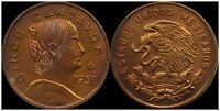 Lot of 2 Mexico 1954-1969 Cinco Centavos Coin Mexican Peso Great Piece