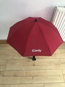 Genuine Icandy Peach Umbrella/ Parasol With Clip To Attach