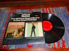 "Johnny Mathis 2-Record LP ""Open Fire, Two Guitars"" and ""Warm"" G+ / NM IN CELLO~C"