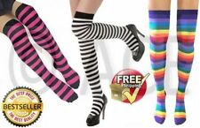 Women's Cotton Thigh High Socks