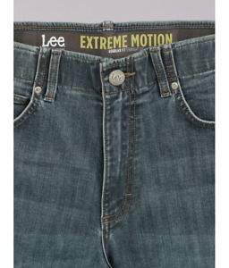 LEE EXTREME MOTION Jeans Regular Fit Straight Leg Stretch Denim Wilson Blue NWT