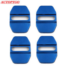 W/LOGO Blue Door Lock Cover Caps For Most of Mercedes-Benz B C E S GLA GLK A AMG