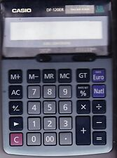 CALCULATRICE ELECTRONIQUE   CASIO  DF-120ER  12 CHIFFRES    OCCASION   VINTAGE