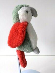 Little White Company - Peter Parrot  - Soft  Plush White Green & Red Bird