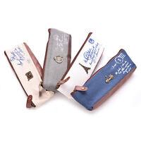 Pencil Pen Case Cosmetic Makeup Coin Pouch Zipper Bag Purse retro Canvas