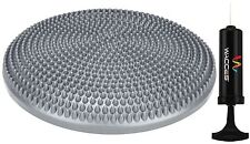 WACCES Fitness Stability Air Cushion Balance Wobble Disc With Pump - Gray