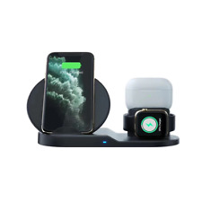 3in1 Qi Wireless Fast Charger Dock Stand For Apple Watch Airpod iPhone 11 X Xs