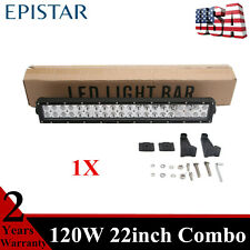 22''inch 120W LED Work Light Bar Combo fits Jeep Chevrolet Slim New ATV 4WD NEW