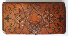 Porte-monnaie portefeuille en cuir de Cordou oriental 19e siècle wallet
