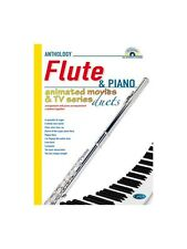Animated Movies and TV Duets for Flute And Piano Learn to Play MUSIC BOOK & CD