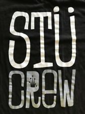 "Authentic Genuine Stüssy ""Stü CREW"" Black T-Shirt Size: Large STUSSY"