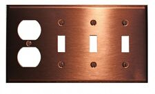 Switchplate Brushed Solid Copper 3 Toggle/Outlet | Renovator's Supply