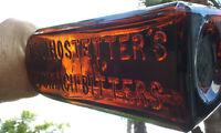 1800'S ANTIQUE DR. HOSTETTER'S STOMACH BITTERS BOTTLE!!!  WHITTLED!!!  CRUDE!!!!