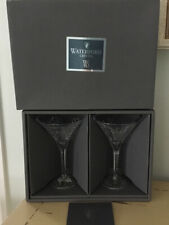 Waterford Crystal Desmond Pair Of Martini Glasses Ireland 2005 Ws Society Ltd Ed