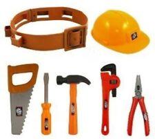 Child's Builders Plastic Belt Hat Fancy Dress Accessories Set