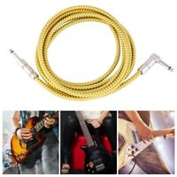 10FT 6.35mm Guitar Audio Cable Cord for Electric Guitar AMP Musical Instruments