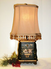 Dale Tiffany Antiques Roadshow 3 Drawer Jewelry Box Lamp Hand Painted