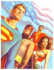 """Conjunto de 20 Alex Ross Dc Comics 6"""" X 4"""" impresiones de fotos Superman Batman Flash"""