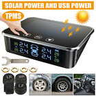 Touch Solar USB Wireless TPMS Car Tire Pressure LCD Monitoring System + 4 Sensor
