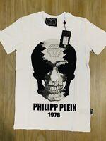 Luxury Mens Philipp Plein T-Shirt, Embroidered, L Size, Slim Fit