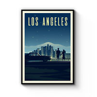Retro Los Angeles Travel Vintage Artwork Wall Art Poster Print Framed Canvas