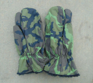 Czech M95 Cold Weather Trigger Finger Mittens/Ski Gloves, Size XL,ex. used cd.