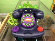 Vintage 90s Nickelodeon Talk Blaster Land Line Telephone Purple Tested! Works!