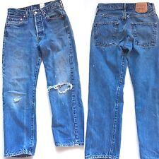 Vintage Levis 501 Red Tag Women's Highwaisted Mom Boyfriend Denim Jeans Size 32
