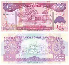 Somalilandia 1000 chelines 2011 P-20a Billetes Unc