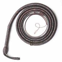 Kangaroo Hide Leather 06 to 16 Foot 12 Plaits Bull Whip Indiana Jones Bullwhip
