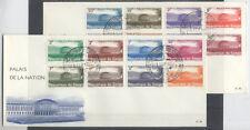CONGO BELGE FDC 30-31 - PALAIS DE LA NATION - 1964 LUXE