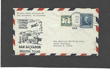 1946 FIRST FLIGHT SAN SALVADOR TO HOUSTON,TX FAM 5-PAN AMERICAN WORLD AIRWAYS