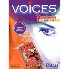 LOT manuel +cahier d'exercices  Anglais VOICES Terminales