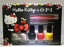 Set of 5 OPI MINI Nail Polishes Lacquers Hello Kitty Friend Pack Collection
