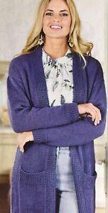 Ladies Knitted  Long Jacket  Cardigan Knitting Pattern