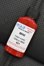 CHILLI RED 851 TOUCH UP KIT BMW MINI JOHN COOPER BOTTLE BRUSH REPAIR PAINT CHIP