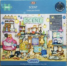 GIBSON, 1000 pce complete puzzle. SCENT, lovely puzzle for cat lovers.