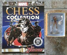 Marvel Chess Collection #46 Lady Deathstrike Black Pawn Resin Figure & Magazine