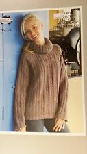 10bc1ea57dd01 Heirloom Knitting Pattern  262 to Knit Ladies Cabled Jumper in 8 Ply