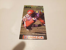 Rs20 Calgary Stampeders 2001 Cfl Football Pocket Schedule - Chqr/Molson