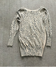 JANE NORMAN London Ladies Top Size 8 Patterned Part Angora