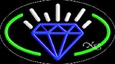 New Diamonds Logo 30x17 Oval Border Real Neon Sign Withcustom Options 14189