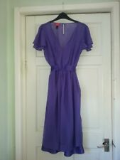 Purple 100% silk, lined, Monsoon dress, size 12.