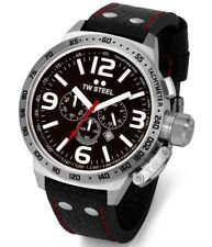 TW Steel TW78 Men's Canteen Chronograph 45mm Black Dial Leather Watch