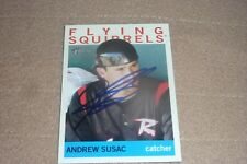 ANDREW SUSAC SIGNED BASEBALL CARD 2013 TOPPS HERITAGE MINORS AUTOGRAPHED GIANTS