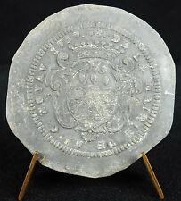 Médaille De la mairie de Monseigneur C Noyav 1737 Louis XV Blason armes medal