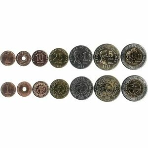 7 COINS FROM PHILIPPINES. 1995-2010. UNC 1 SENTIMOS - 10 PISO. OLD CURRENCY