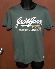Lot of 2 JACK & JONES Vintage Clothing Co T - Shirts Green Maroon Sz M EXCELLENT