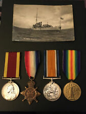 More details for ww1 trio + china medal 1900 - jonas symes (rn p.off no.187932) + research/tree